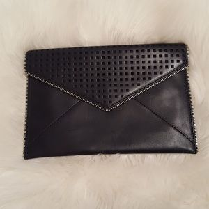 Rebecca Minkoff Leo Envelope Perforated Clutch Bag